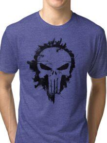 The Punisher Skull Logo Tri-blend T-Shirt
