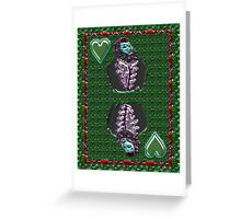 Chrome King of Hearts Greeting Card
