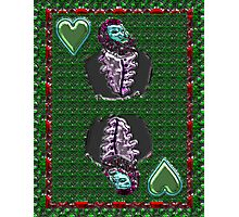 Chrome King of Hearts Photographic Print