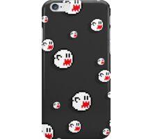 8bit Boo iPhone Case - Flat Grey iPhone Case/Skin