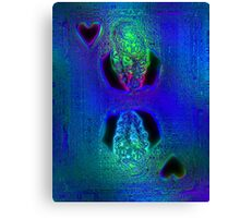 Glass King of Hearts Canvas Print
