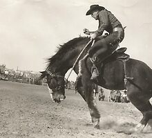 "Jack Wade On ""Hells Angels"" Phoenix Rodeo 1942 by Robert Stanford"
