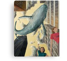 Whale In The Sky Metal Print