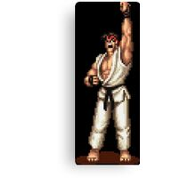 Ryu Victory Pose Street Fighter Canvas Print
