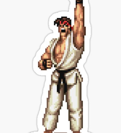 Ryu Victory Pose Street Fighter Sticker