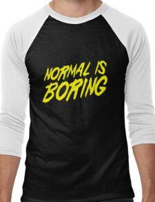Normal is Boring Men's Baseball ¾ T-Shirt