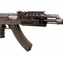 AirRattle – Metal AK-47 RIS 400 FPS Airsoft AEG Rifle by airrattle