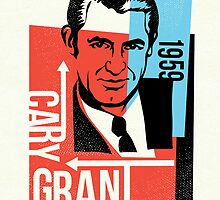 Original Graphic Design Portrait of Cary Grant  by DKMurphy