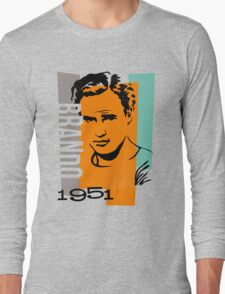 Original Graphic Design Portrait of Marlon Brando Long Sleeve T-Shirt