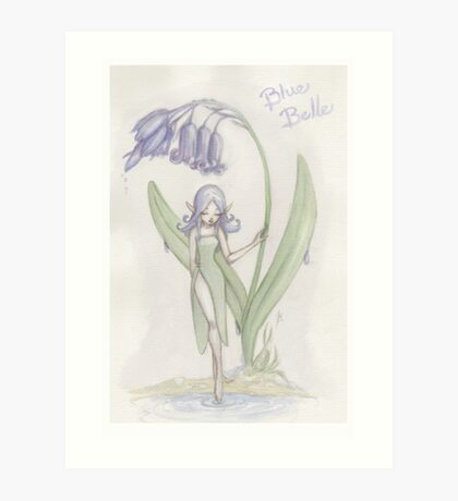 Flower Fairy - Blue Belle  Art Print