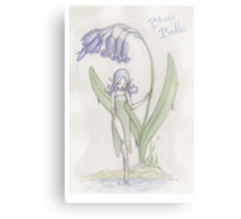 Flower Fairy - Blue Belle  Canvas Print