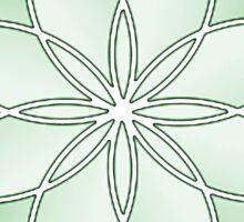 Flower of Life - Growth Green Sticker