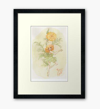 Flower Fairy - Merry Gold Framed Print