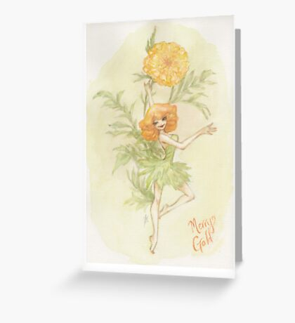 Flower Fairy - Merry Gold Greeting Card