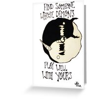 Personal Demons in Love Greeting Card
