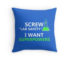 Screw Lab Safety Throw Pillow