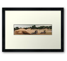 Longtrack race Framed Print