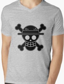 Luffy - OP Pirate Flags Mens V-Neck T-Shirt