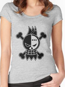 Franky - OP Pirate Flags Women's Fitted Scoop T-Shirt
