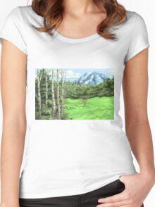 Mount Adjo Women's Fitted Scoop T-Shirt