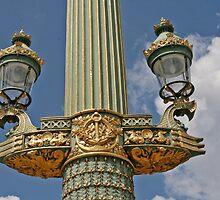 Golden Green of a Lamp by Nira Dabush