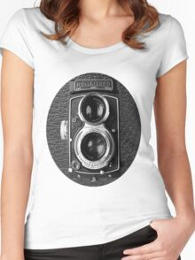 ❀◕‿◕❀ROLLEICORD CAMERA UNISEX TEE SHIRT❀◕‿◕❀ Women's Fitted Scoop T-Shirt