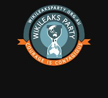 WikiLeaks Party - Courage is contagious Unisex T-Shirt