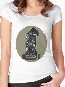 MAMIYA 3CC PROFESSIONAL CAMERA TEE SHIRT Women's Fitted Scoop T-Shirt