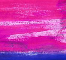 Hand painted watercolor abstract blur. Indigo and pink by Olga Matskevich