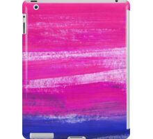 Hand painted watercolor abstract blur. Indigo and pink iPad Case/Skin