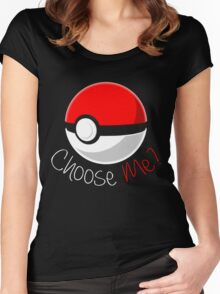 Pokemon - Choose Me? Women's Fitted Scoop T-Shirt