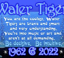 1902 1962 2022 Chinese zodiac born in year of Water Tiger  by Valxart