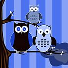 Blue Owls by Adamzworld