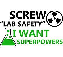 Screw Lab Safety Photographic Print
