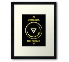 The Witcher Professional Series - Quen (Type) Framed Print