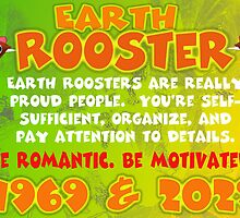 1969 2029 Chinese zodiac born in year of Earth Rooster by Valxart