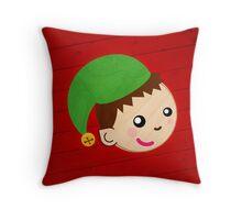Santa's Helper Elf Throw Pillow