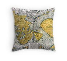 World Map 1531 Throw Pillow