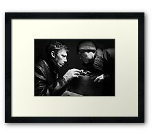 Sinister Exchange. Framed Print