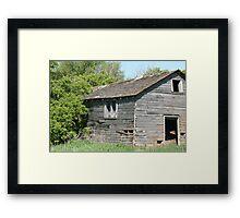 Abandoned Barn Falling to Ruin Framed Print