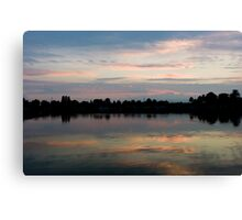 Sunset reflectional clouds, Canvas Print