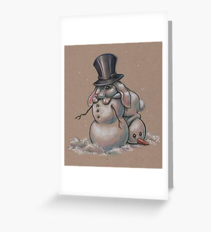 Snow Bunny Shenanigans Greeting Card