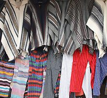 Rows of Ponchos and Pants by rhamm