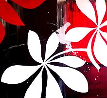 Red and White Lily by Regan O'Neill