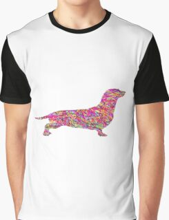 Pyschedelic Sausage Dog Graphic T-Shirt