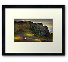 Last light on Vik kirkja Framed Print