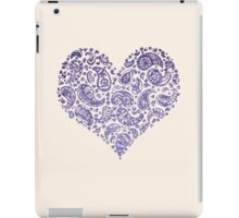 Purple Brocade Paisley Heart iPad Case/Skin