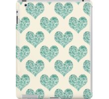 Emerald Brocade Paisley Heart Pattern iPad Case/Skin