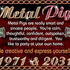 1971 2031 Chinese zodiac born in year of Metal Pig by Valxart.com  by Valxart