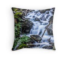 Cadair Idris Waterfall Throw Pillow